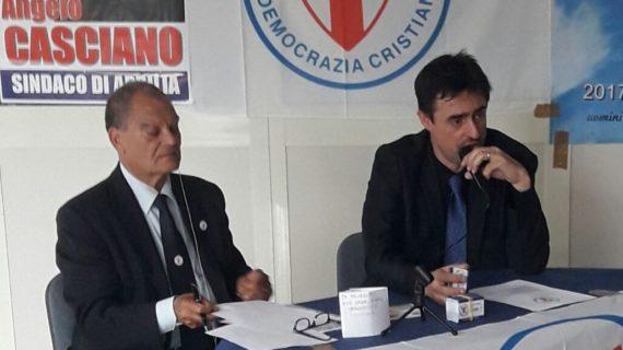 CONFERENZA STAMPA DELLA DEMOCRAZIA CRISTIANA AD APRILIA (LT) IN VISTA DELLE ELEZIONI AMMINISTRATIVE DEL 10 GIUGNO 2018.