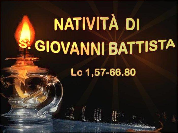 VANGELO DEL GIORNO – Domenica 24 Giugno 2018 – Natività di San Giovanni Battista