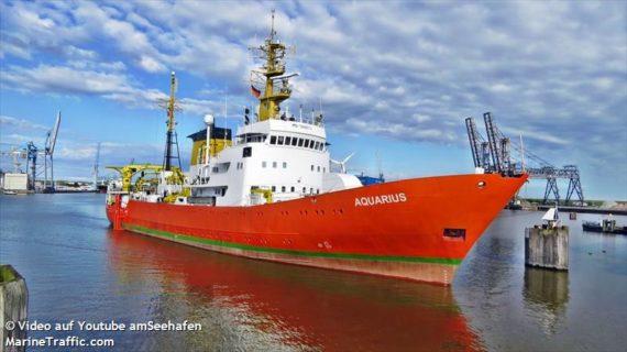 La nave della disperazione Aquarius : rotta verso la Spagna.