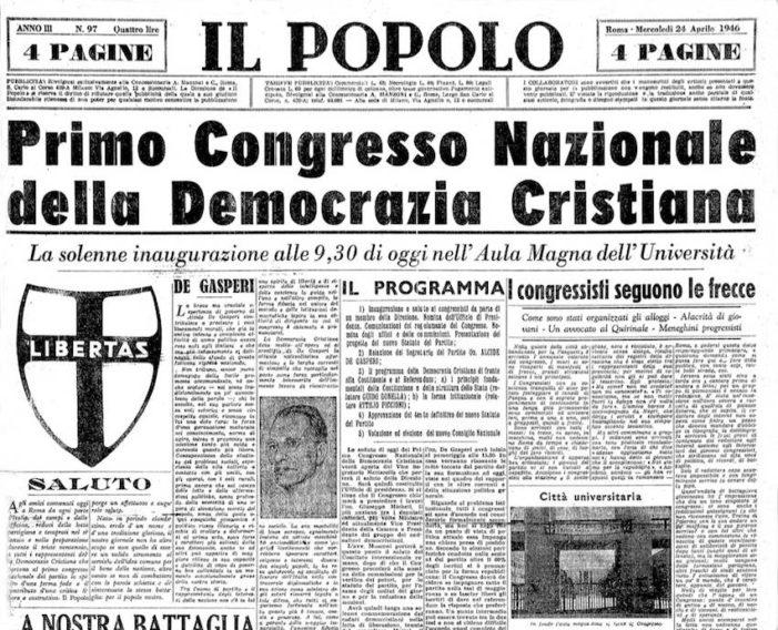 COME FAR RINASCERE QUEI VALORI E QUELLA FEDE PER LA DEMOCRAZIA CRISTIANA DI CUI MOLTO SE NE SENTE IL BISOGNO !