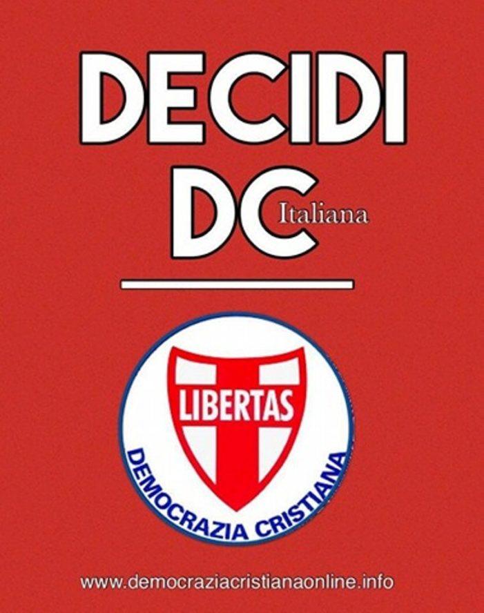 """Pasquale Montalto (D.C): sviluppo e organizzazione del partito sono """"il cuore del problema"""". DECIDI D.C. !"""