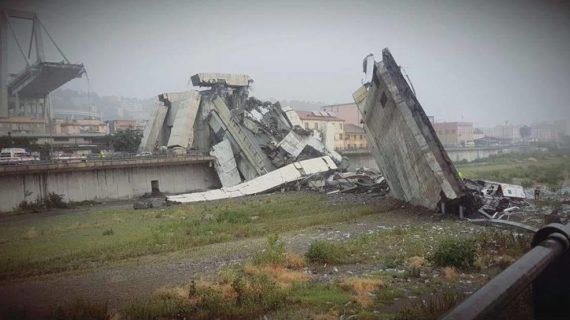 L'IMMANE TRAGEDIA ACCADUTA A GENOVA: ORE 12 DEL 14-08-2018.