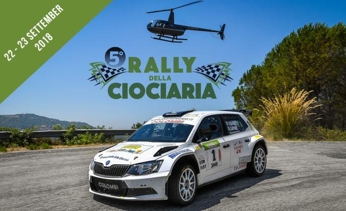 Il 5° Rally della Ciociaria in scena il 22-23 settembre 2018.
