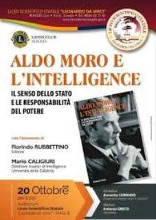 """Presentazione libro di Caligiuri """"Aldo Moro e l'intelligence"""" a Maglie, città natale dello statista."""