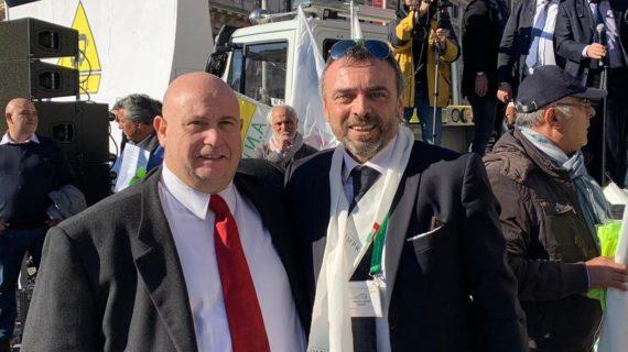 Una delegazione della Democrazia Cristiana presente alla manifestazione di protesta degli NCC a Roma il 29-11-2018