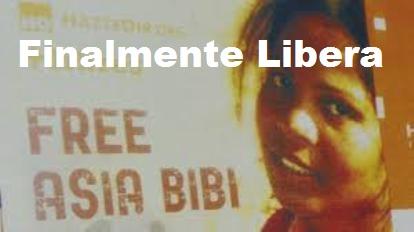Pakistan. Dopo 3.420 giorni di carcere, Asia Bibi è libera.