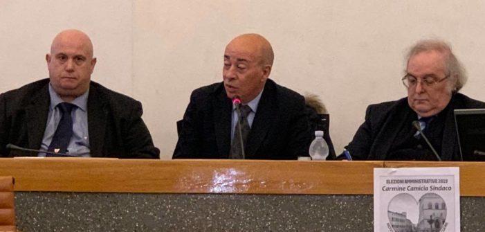 Presentata a Perugia la candidatura a Sindaco di CARMINE CAMICIA sostenuto da Perugia con il cuore e dalla Democrazia Cristiana.