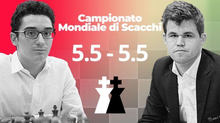 Nelle fasi finali del Campionato mondiale di scacchi Magnus Carlsen ha sconfitto (a fatica) Fabiano Caruano.