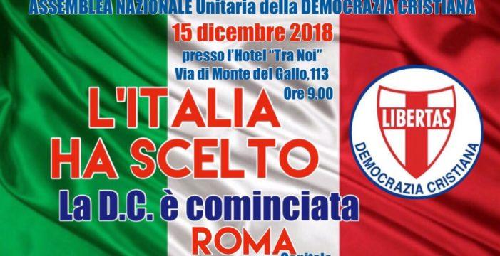 Roma: Prima Assemblea Unitaria della Democrazia Cristiana.