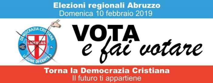 La Democrazia Cristiana di nuovo in campo nelle elezioni regionali dell'Abruzzo del 10 febbraio 2019