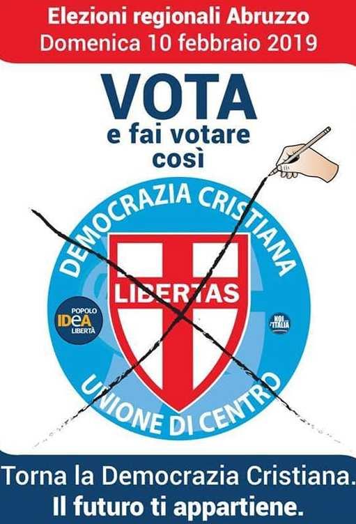 """La Democrazia Cristiana verso le elezioni abruzzesi del 10 febbraio 2019: """"Un programma elettorale non si inventa, si vive!"""" (don Luigi Sturzo)."""