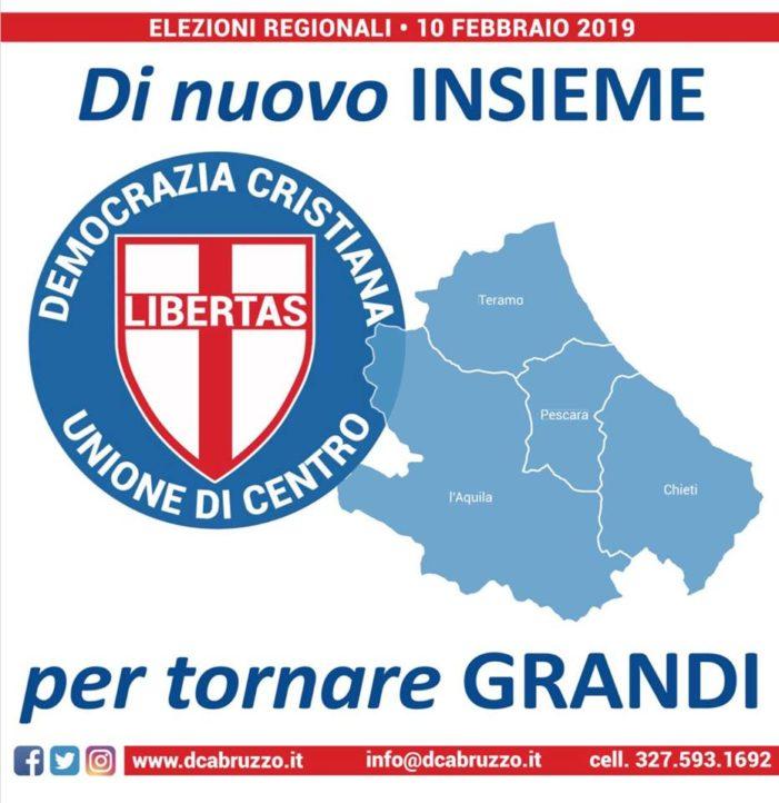 Domenica 10 febbraio 2019: un voto alla Democrazia Cristiana per un Abruzzo migliore !