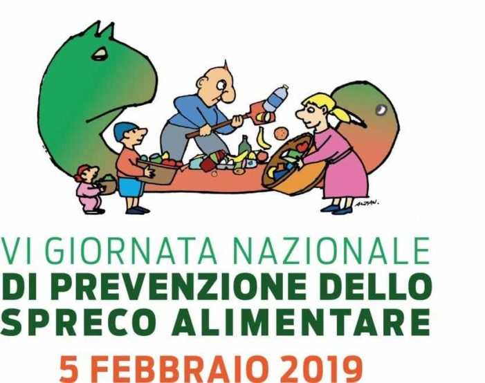 Si celebra oggi (5 febbraio 2019) la sesta giornata contro lo spreco alimentare !