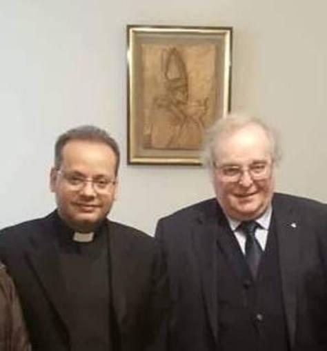 Il Segretario nazionale D.C. ANGELO SANDRI ha fatto visita ad importanti esponenti della Curia vaticana.