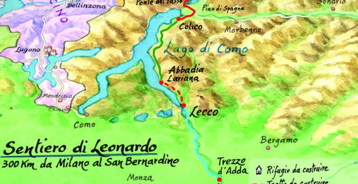 Nasce il Sentiero di Leonardo, le tappe tra Italia e Svizzera.