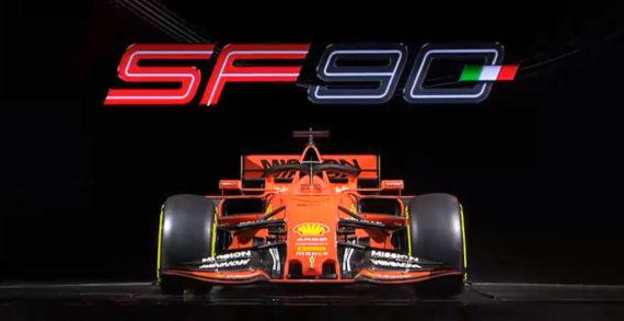 Maranello: la Ferrari presenta la nuova la nuova SF90 di Vettel e Leclerc per il Mondiale 2019.