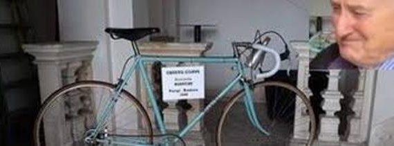 Qualche giorno fa era stata rubata la bici del campione Fausto Coppi. Ritrovata.