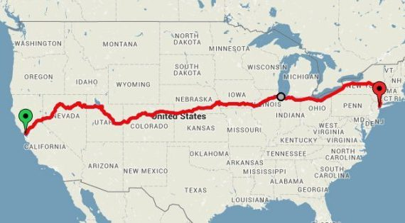 Un viaggio Coast to Coast, attraverso gli USA: tutto in treno, gustando il magnifico panorama.