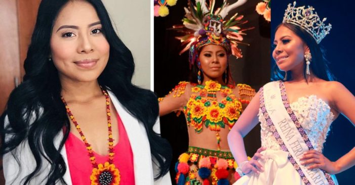 Ragazza indigena si presenta ad un concorso di bellezza e incanta la giuria.