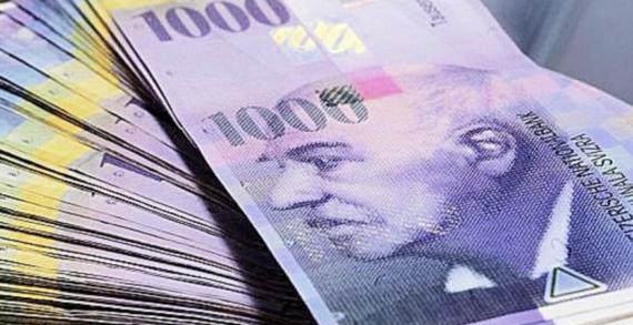Svizzera: Banconote di grosso taglio sono sempre più di moda, 1000 FRANCHI.