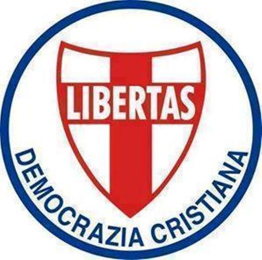 ANGELO SANDRI (D.C.): IL SIMBOLO UFFICIALE DELLA DEMOCRAZIA CRISTIANA.