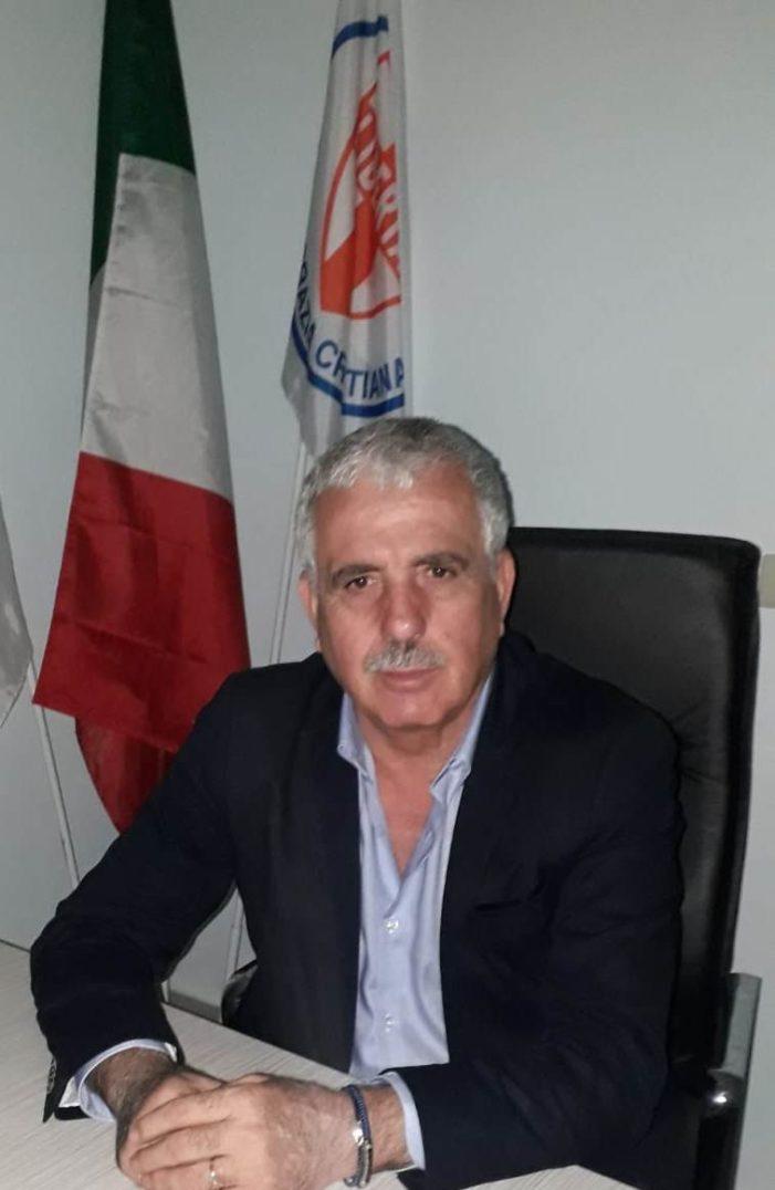 """Sabatino Esposito (D.C. Caserta): """"E' imminente l'inaugurazione della nuova sede provinciale della Democrazia Cristiana di Caserta""""."""