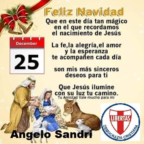 I più fervidi auguri di Buon Natale ed anche l'augurio di capire che senza Gesù Cristo, senza quel Bambino di cui oggi ricordiamo e festeggiamo la nascita, la nostra esistenza sarebbe priva di significato