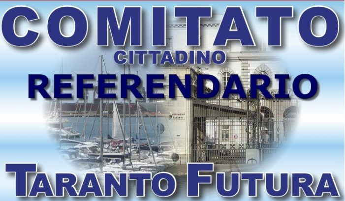 """Conferenza stampa del Comitato """"Taranto Futura"""" sulle problematiche dell'Ex-Ilva: il Comune di Taranto ha negato l'autorizzazione al richiesto referendum. A breve l'udienza del ricorso al Tribunale di Taranto."""