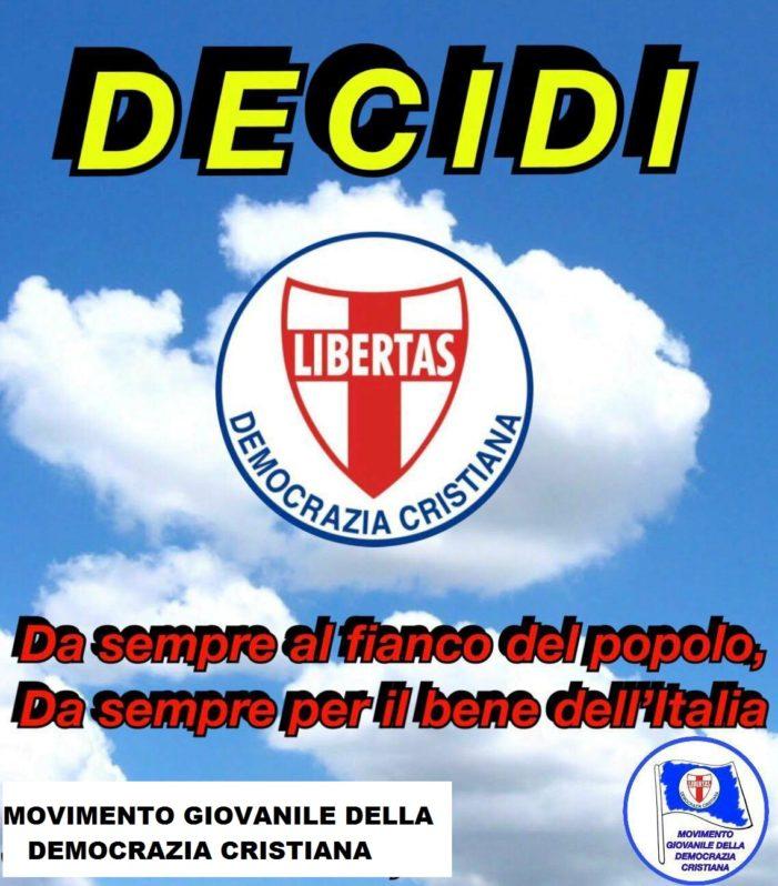 Pressante appello da parte del Movimento Giovanile della Democrazia Cristiana per una riunificazione forte e coesa del partito dello scudocrociato !
