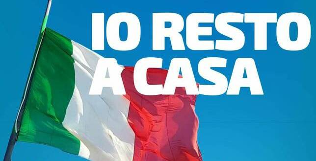"""Da Trieste a Taranto prevale una sola regola base: """" IO RESTO A CASA !"""