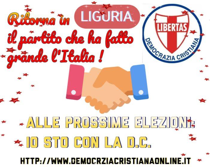 CONTINUA INTENSA L'ATTIVITA' DELLA DEMOCRAZIA CRISTIANA DELLA LIGURIA PER L'APPUNTAMENTO DELLE ELEZIONI REGIONALI DEL 2020.