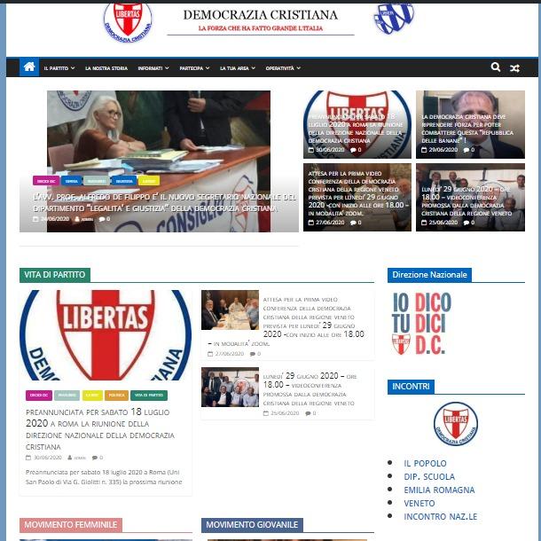 Venerdì 3 luglio 2020 – Ore 18.30 – Incontro telematico in preparazione alla Direzione nazionale D.C. del 18-07-2020 (problematiche elettorali).