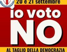 DEMOCRAZIA CRISTIANA ED UNIONE CATTOLICA CONCORDI PER UN DECISO NO AL REFERENDUM DEL 20 E 21 SETTEMBRE 2020