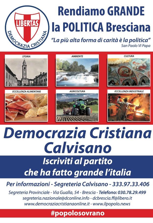"""Al via la nuova sezione della Democrazia Cristiana di Calvisano (in provincia di Brescia) intitolata ad """"Alcide De Gasperi"""""""