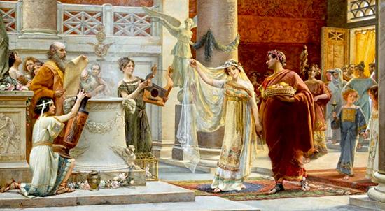 Pillole di storia: l'istituto del matrimonio dal diritto romano ai giorni nostri.