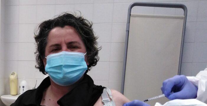 Vn 9 aprile 2021: anche Carla Crafa (Benevento) ha ricevuto la sua prima dose vaccinale.