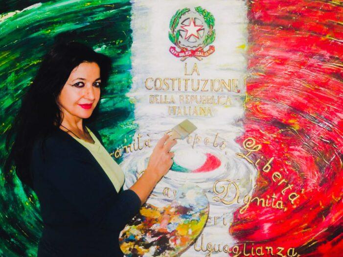 In occasione del settantacinquesimo anniversario della Festa della Repubblica (2 giugno 2021) gli auguri artistici di Pietra Barrasso, Maestro di Luce ! >