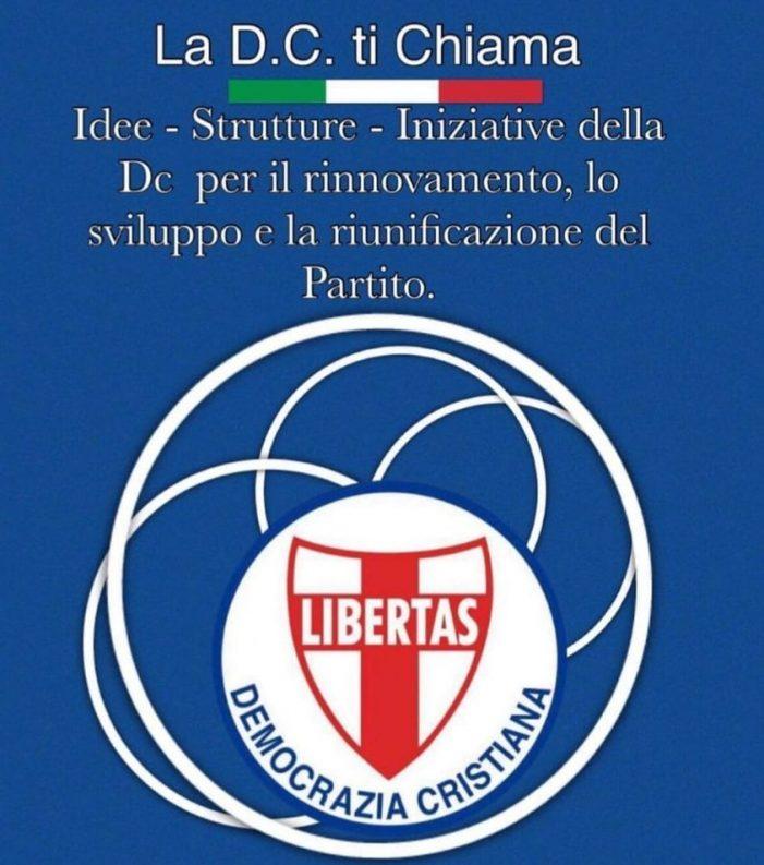 """Sosteniamo la Democrazia Cristiana: è iniziata la campagna di comunicazione """"CREDERCI PER ESSERCI"""" e di sensibilizzazione a sostegno del partito dello scudocrociato !"""
