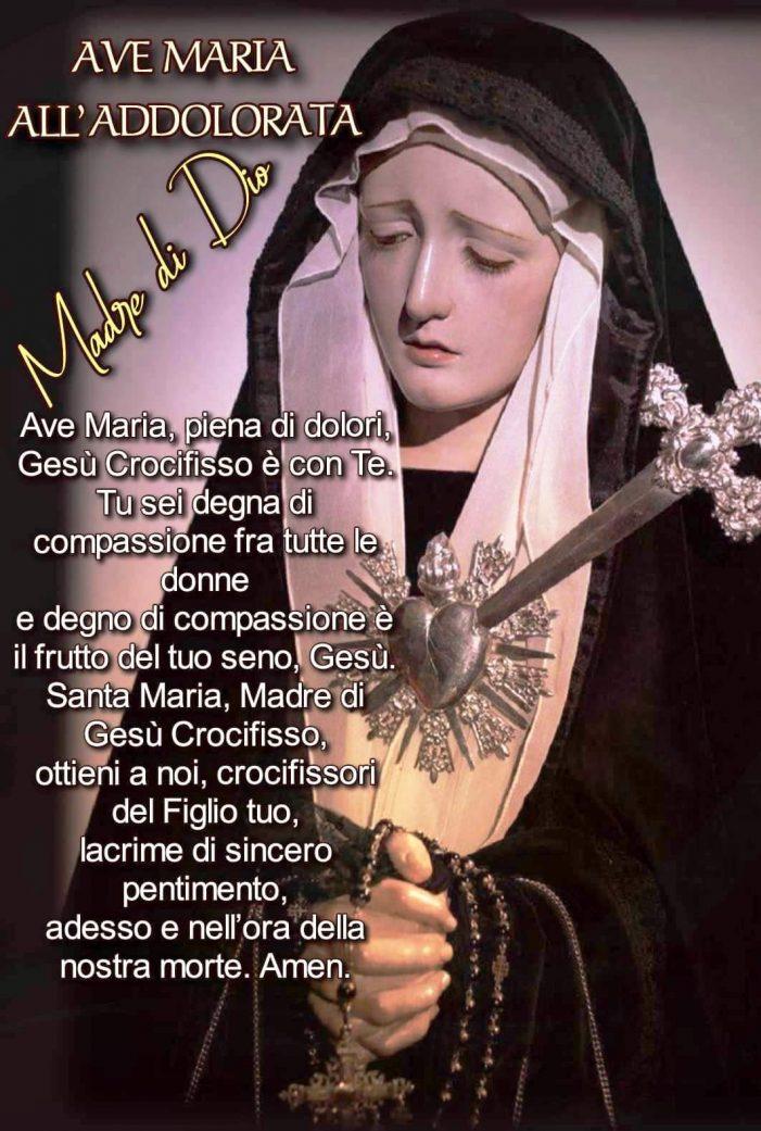 LA MEMORIA DELLA BEATA VERGINE MARIA ADDOLORATA (15 settembre).