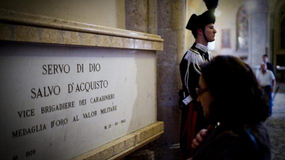 Facciamo memoria del Vice-brigadiere dei Carabinieri Salvo D'Acquisto, Servo di Dio, valido esempio anche per le nuove generazioni
